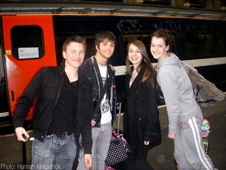 (Left to right) Matthew Topliss, Matthew Valentine, Sophie Hall & Megan Hughes