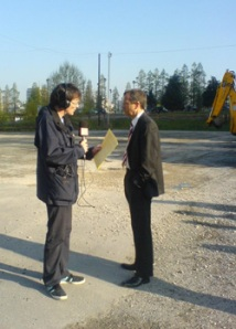 Daragh Corcoran from BBC Radio Leeds interviewing NBT's Chief Executive, Mark Skipper.