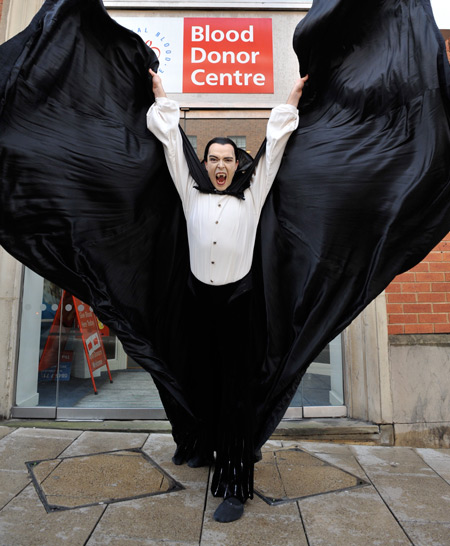 Dracula  Arrives at the Blood Donor Centre, Leeds
