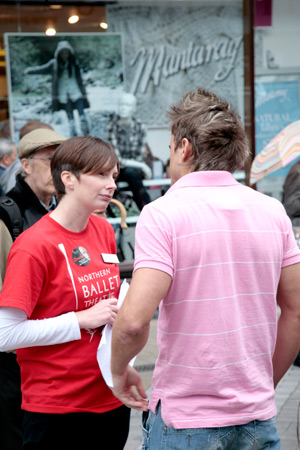 Telling people about NBT, ballet and more... (Photo: Ryan Hopkinson)