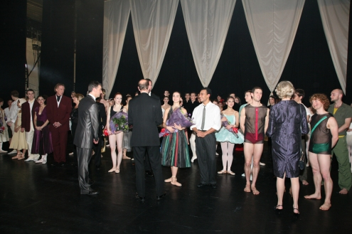 HR, The Earl of Wessex greets the performers at Northern Ballet Theatre's Gala Evening