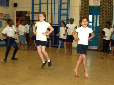 St Peter's Primary School students participating