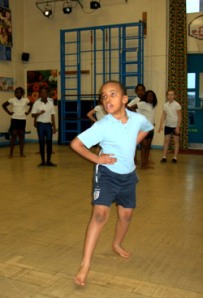 St Peter's Primary School Student dancing