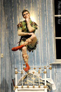 Ashley Dixon as Peter Pan - photo by Alistair Muir