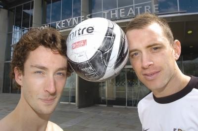 Toby Batley with Aaron Wilbraham