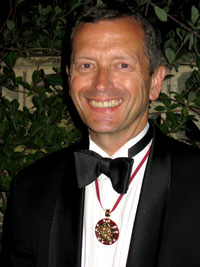 Mark Skipper with medal of office.