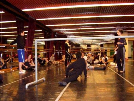 Dance Class in the theatre