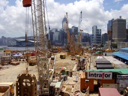 Hong Kong land reclamation and development