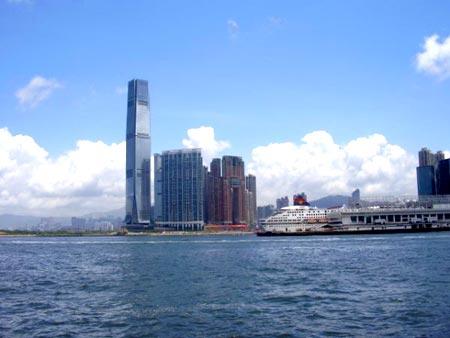Beautiful skies over Hong Kong