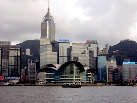 View from TST (Tsim Sha Tsui), a major Hong Kong tourist hub by the theatre