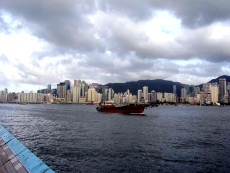 Crossing the Hong Kong harbour