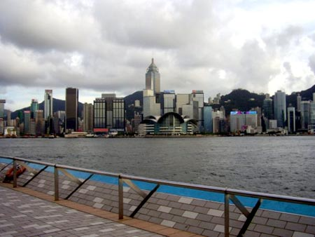 View of the harbour from TST
