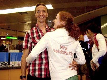 The newlyweds, Mr & Mrs Goldsmith
