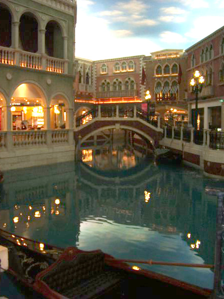 Grand canal inside the Ventian Resort and Hotel