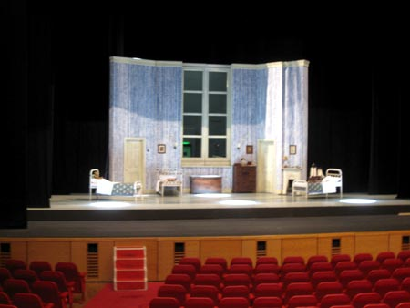 View of the Darling's bedroom from the auditorium