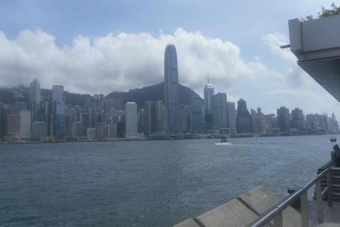 Hong Kong Cityscape as viewed from the stage door