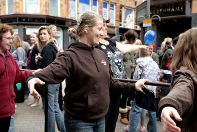 Dancing in the street - Photo: Jo Dean